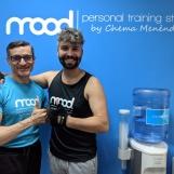 Chema con el actor y cantante Marc Parejo.